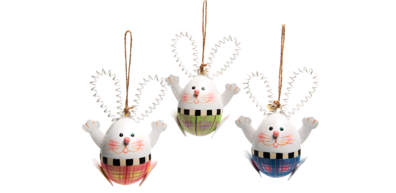 Hello rabbit orn set of 3