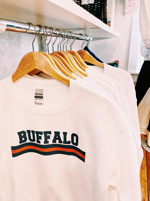 Buffalo sweatshirt with stripe L