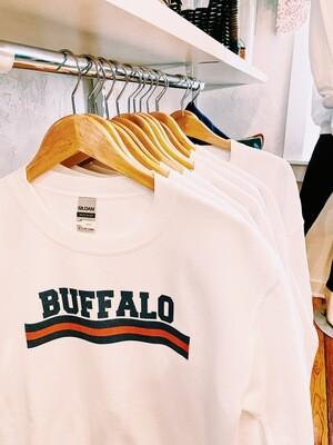 Buffalo sweatshirt with stripe M
