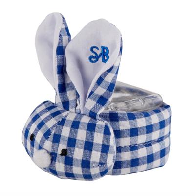 Blue gingham boo-bunnie