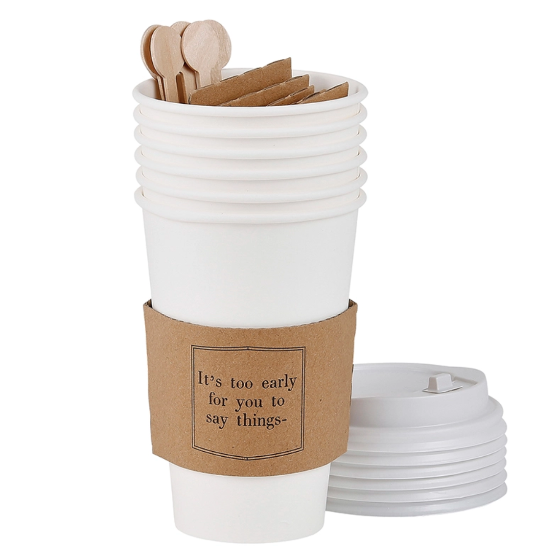 Paper cup set of 6 early