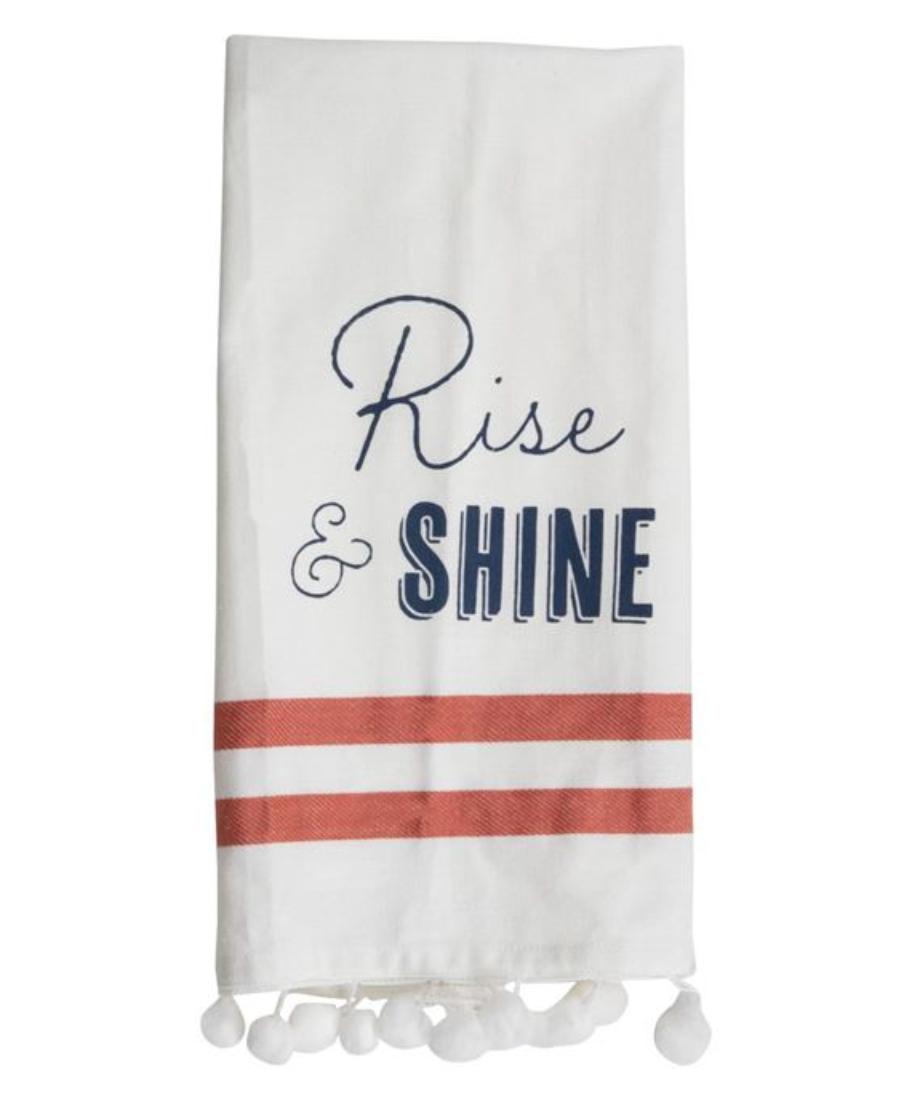 Tea towel rise and shine