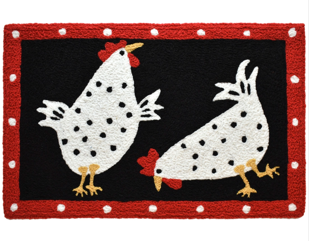 Accent rug cluck cluck chicks