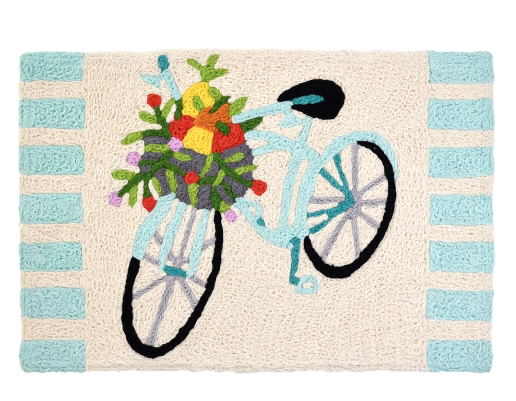 Accent Rug Bicycle with Fruit