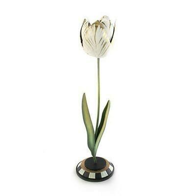 Tulip Candle Holder Gold & Ivory Large
