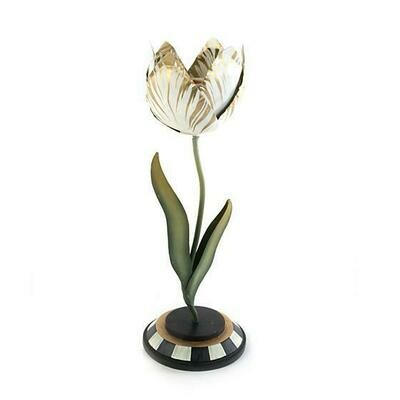 Tulip Candle Holder Gold & Ivory Small