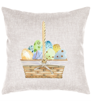 Easter Basket Cottage Pillow