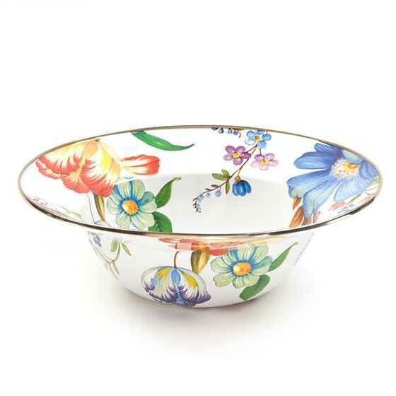 Flower market serving bowl white