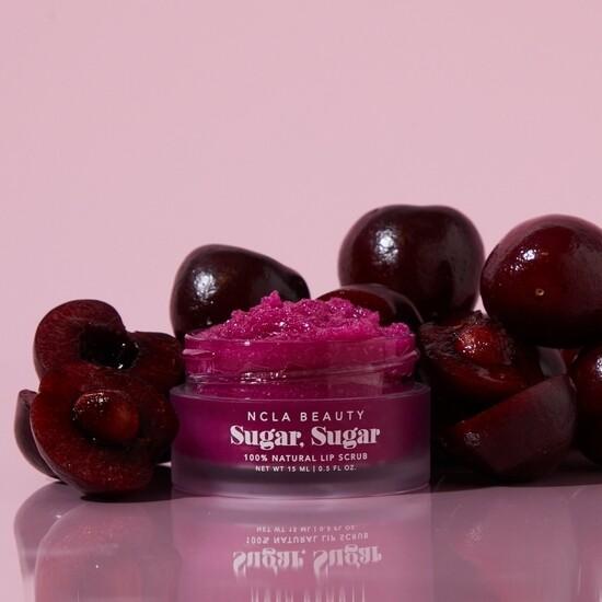 Sugar sugar black cherry lip scrub