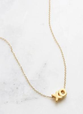 Floating XO necklace gold