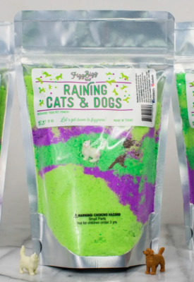 Kids bath salts raining cats & dogs