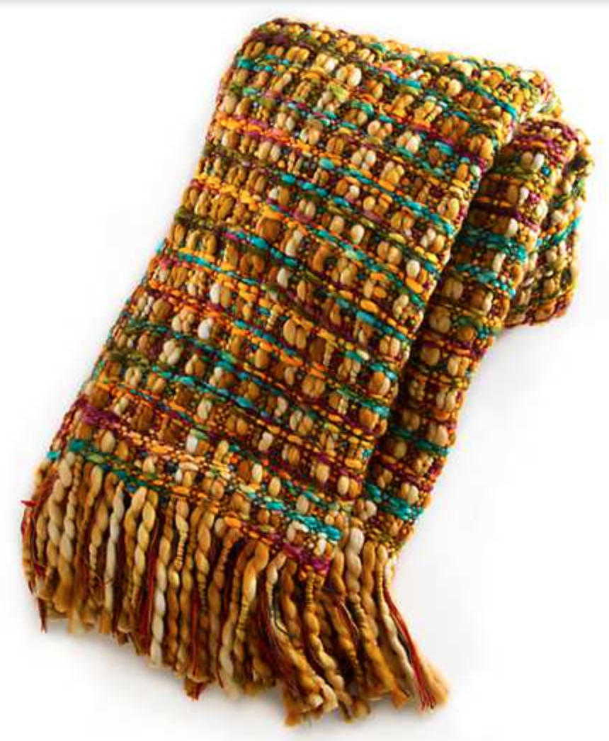 Basket Weave Throw - Goldenrod
