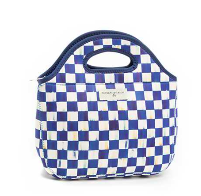 Royal Check Lunch Tote