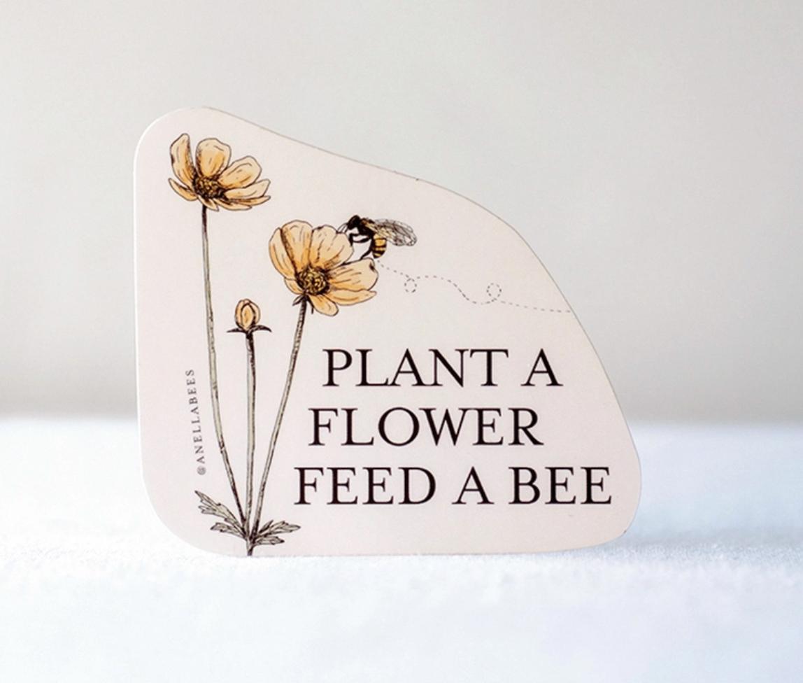 Sticker plant a flower