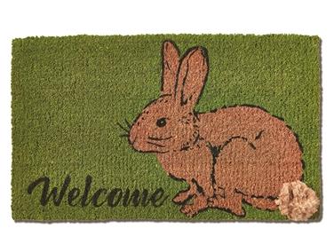 Coir mat cottontail bunny