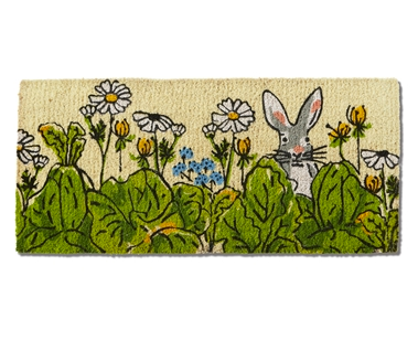 Coir mat garden bunny