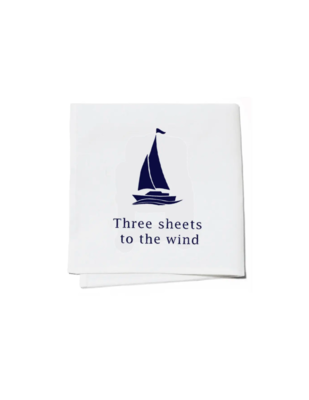 Cocktail napkins three sheets to the wind set of 4