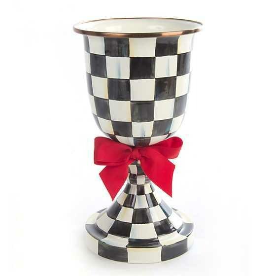 CC Pedestal Vase - Red Bow