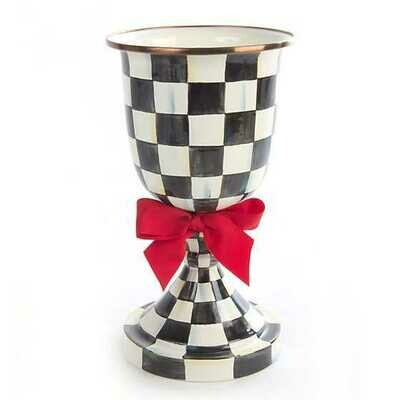 CC pedestal vase red bow