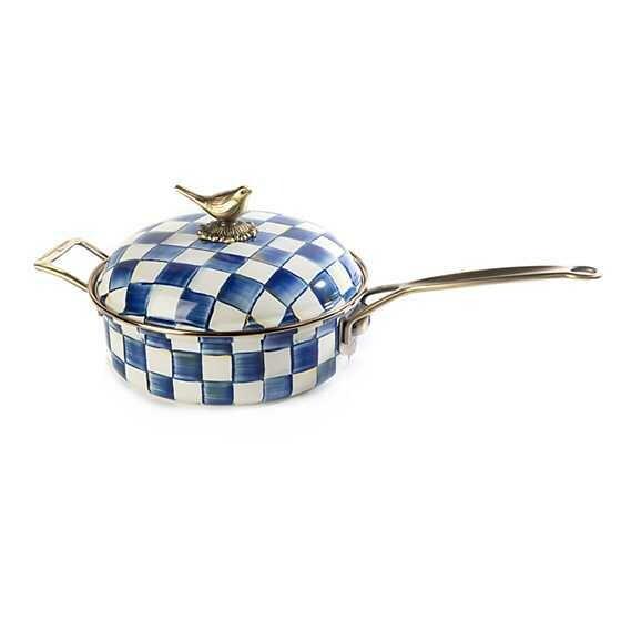 Royal Check Enamel 3 QT Saute Pan