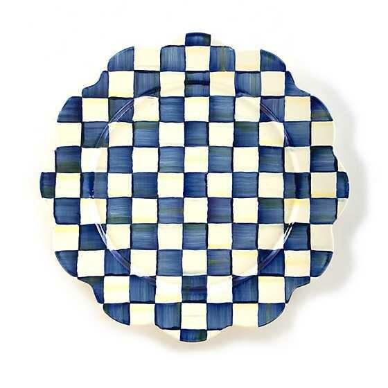 Royal Check Enamel Petal Platter