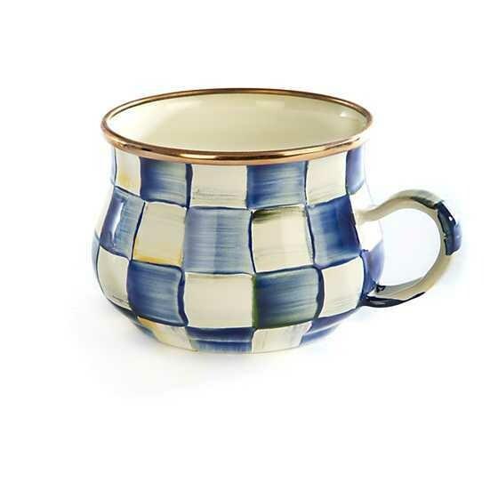 Royal Check Enamel Teacup