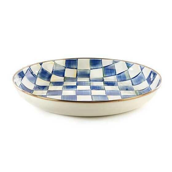 Royal Check Enamel Abundant Bowl