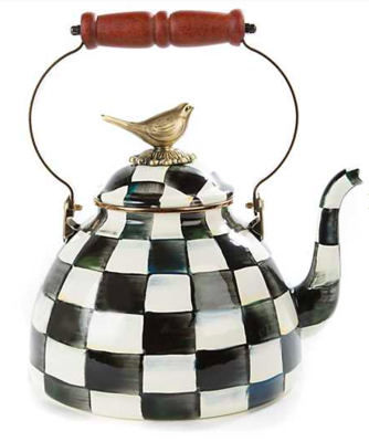 CC Enamel 3 Qt. Tea Kettle w/ Bird