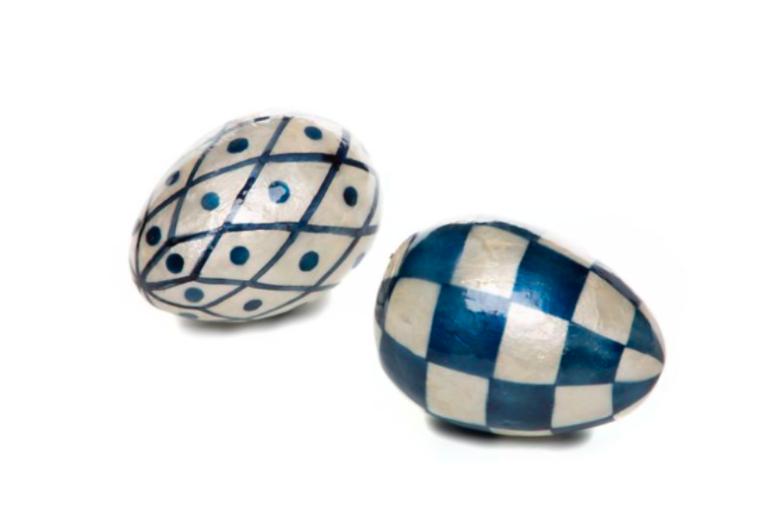Country stroll capiz egg polka dot