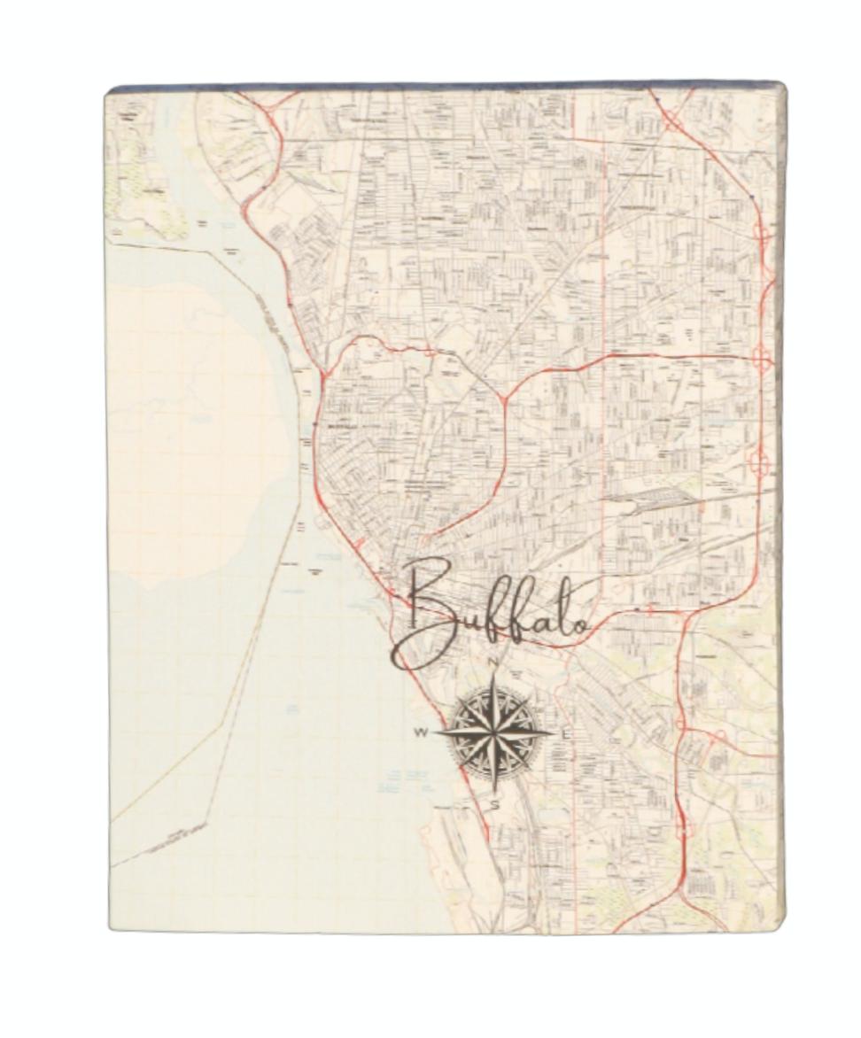 Buffalo, NY Canvas Map