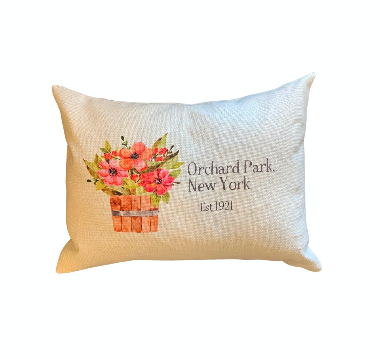Orchard Park, NY Floral Bucket Lumbar Pillow