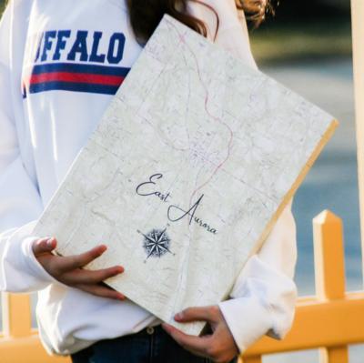 East Aurora, NY Canvas Map