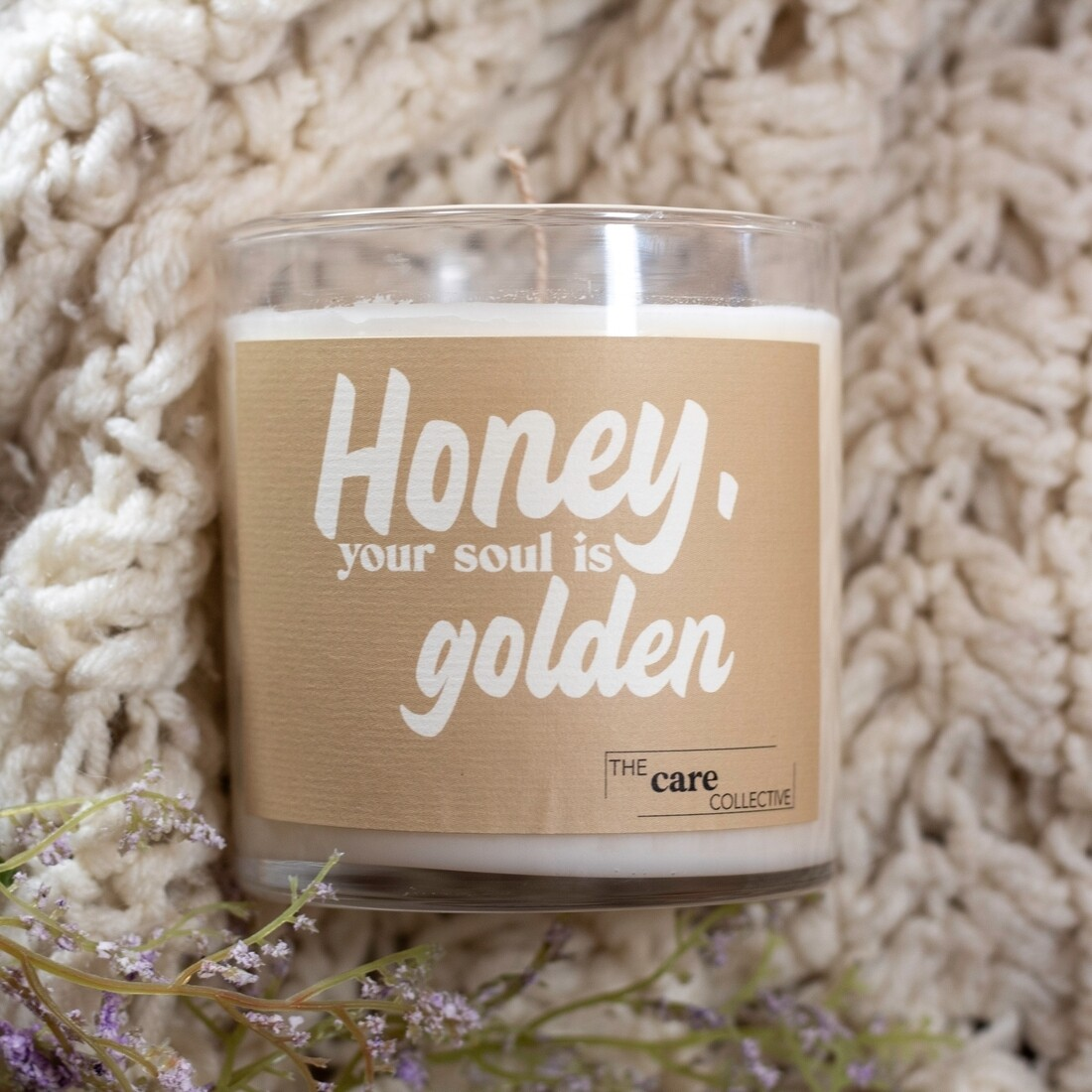 Honey your soul is golden candle