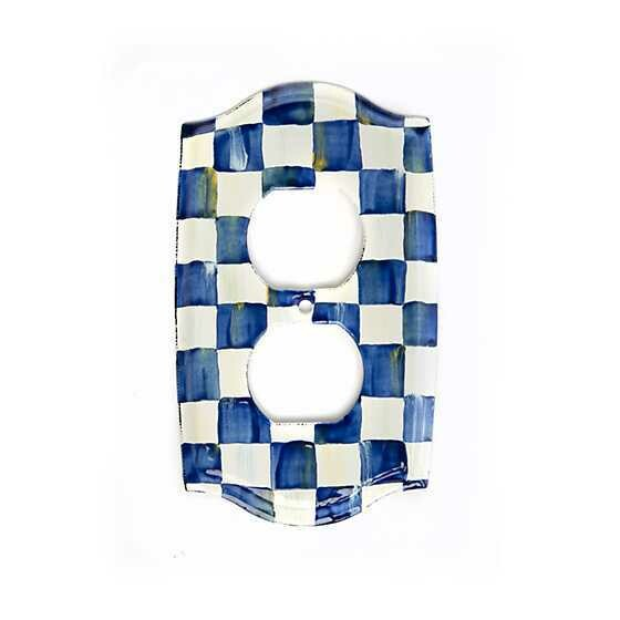 Royal Check Double Outlet Cover