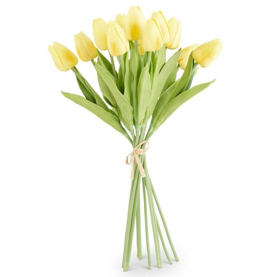 Mini Tulip Bundle Light Yellow Real Touch