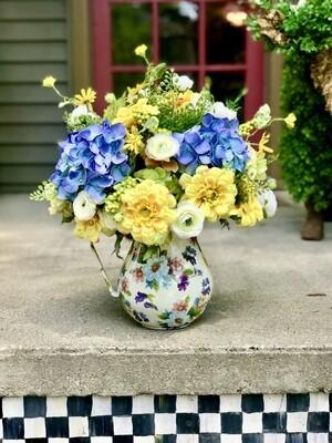 Flower Market Pitcher Flower Arrangement
