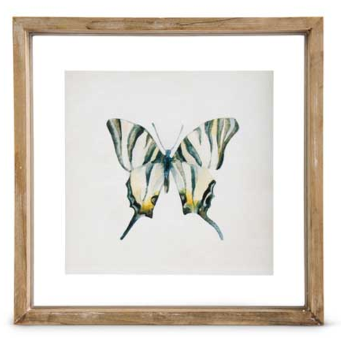 Butterfly Print Style A in Shadow Box