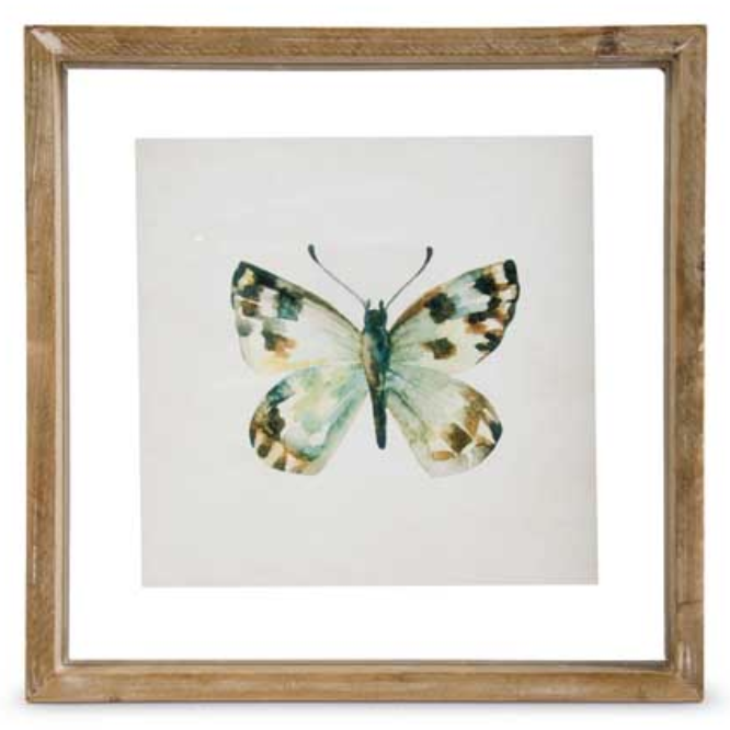 Butterfly Print Style C in Shadow Box