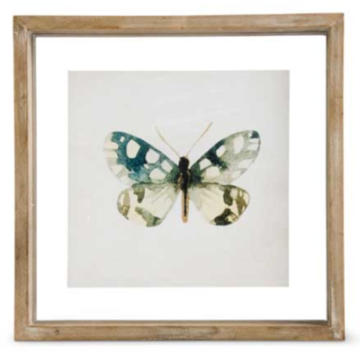 Butterfly Print Style B in Shadow Box