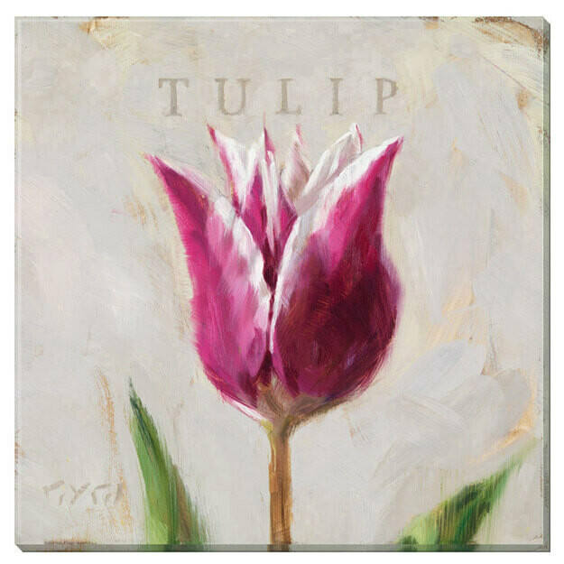 Purple Tulip Giclee Wall Art