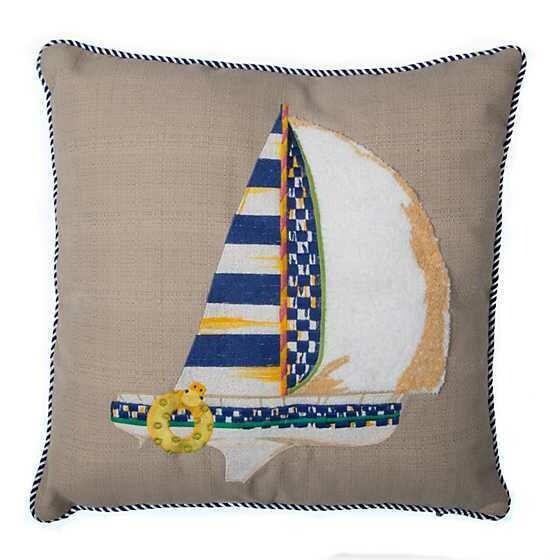 Sailboat Outdoor Accent Pillow