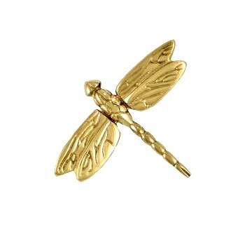 Dragonfly door knocker gold