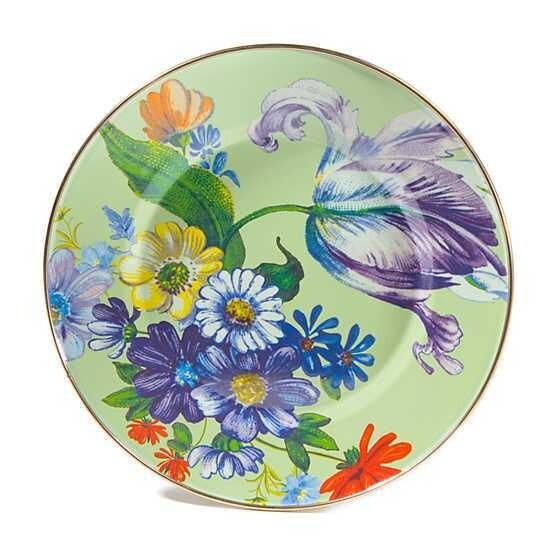 Flower Market Dinner Plate Green