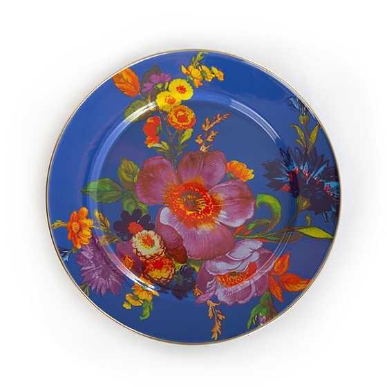 Flower Market Charger/Plate - Lapis