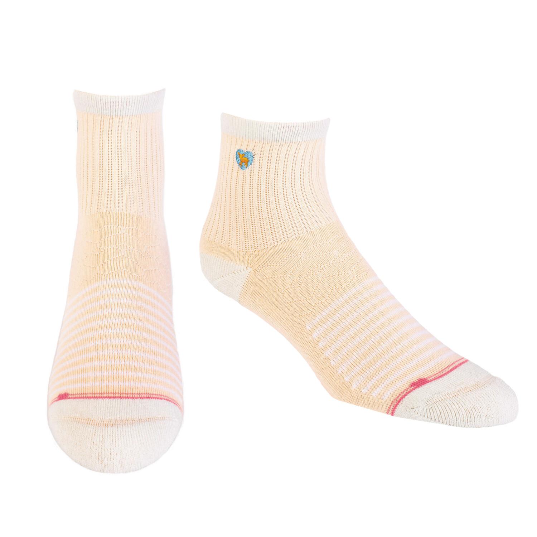 Pudus Socks Lines Peach Q S/M
