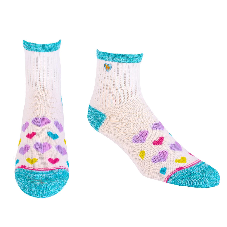 Pudus Socks Hearts Multi Q S/M