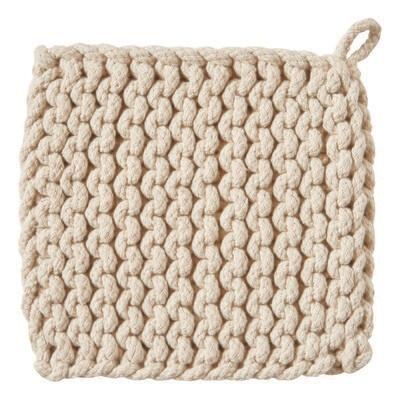 Crochet Trivet Natural