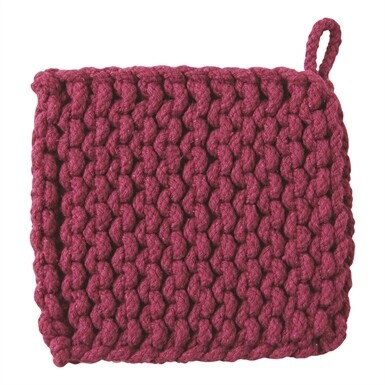Crochet Trivet Plum