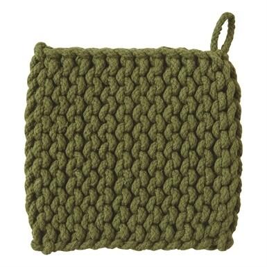 Crochet Trivet Olive