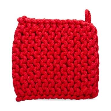 Crochet Trivet Red